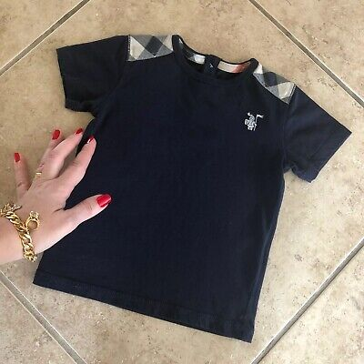 18 Months (12M +  1Y ) Authentic Burberry Baby Toddler Boys T-shirt Polo Patches
