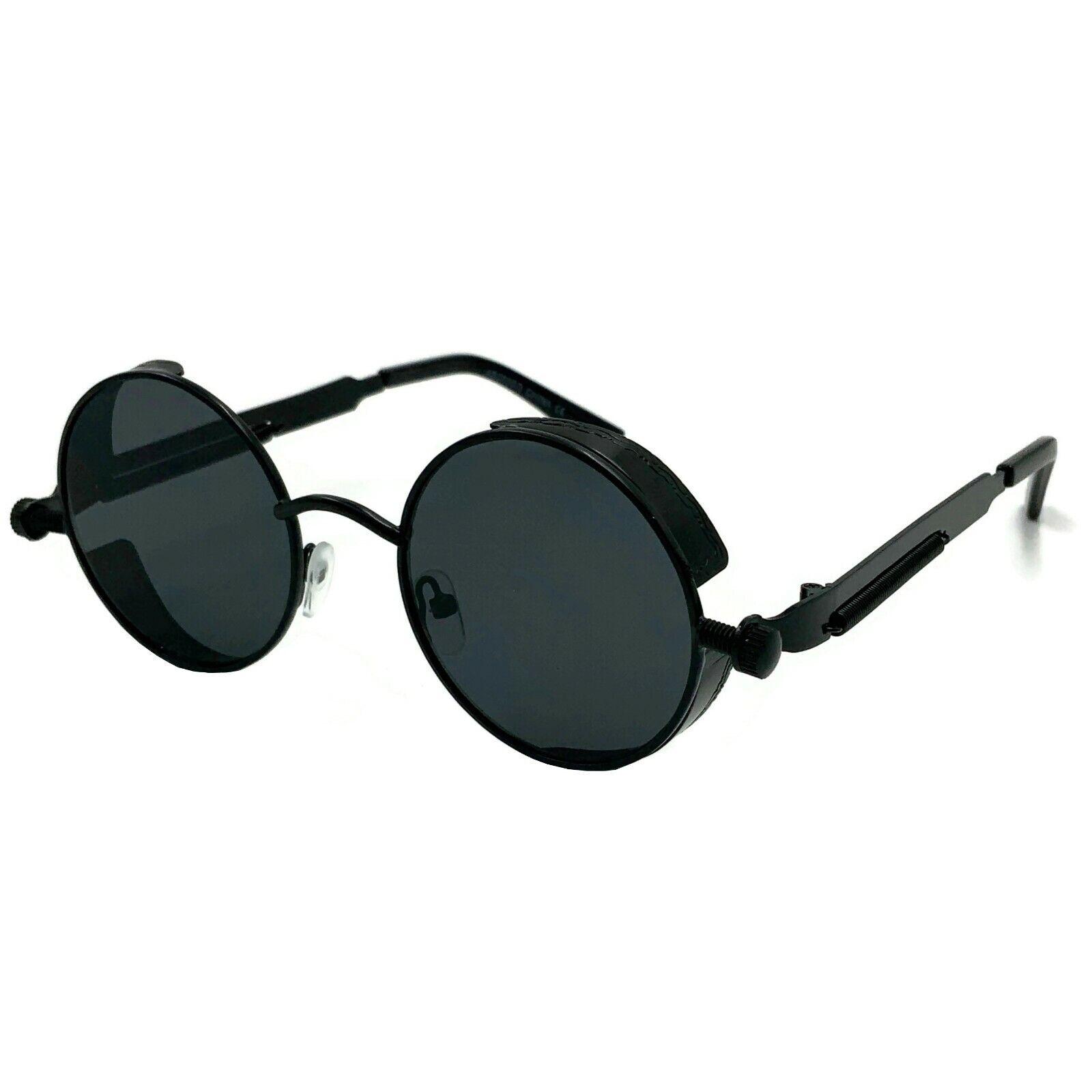 Round Metal Sunglasses Steampunk Men Women Fashion Glasses Brand Designer Retro