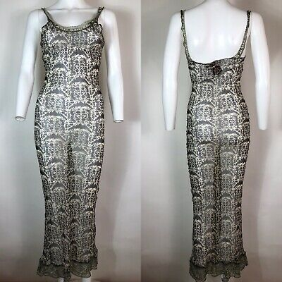 Rare Vtg Jean Paul Gaultier Sheer Mesh Dress S