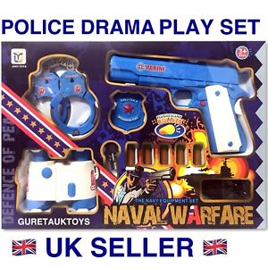 Toys Police Drama Play Set With Soft Bullet Toy Gun Great Gift Idea ! Uk Seller