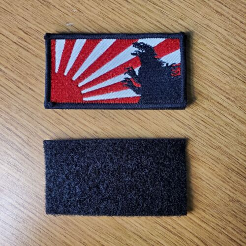 Godzilla Rising Sun Hook & Loop Patch 3 1/2 inches wide
