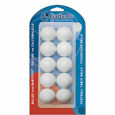 BLI-10PB GARLANDO Foosball Table Football White Standard Balls (Pack of 10)