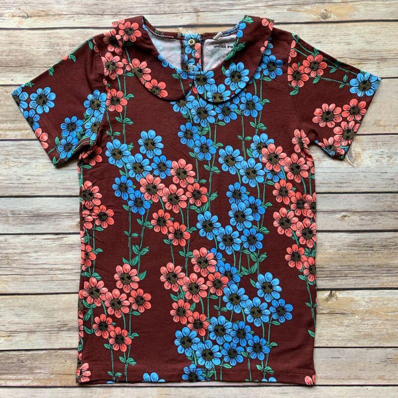 Mini Rodini Daisy Burgundy T-Shirt, 116-122 Cm