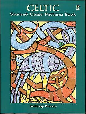 Celtic Stained Glass Pattern Book - 91 inventive motifs by Mallory Pearce NEW PB