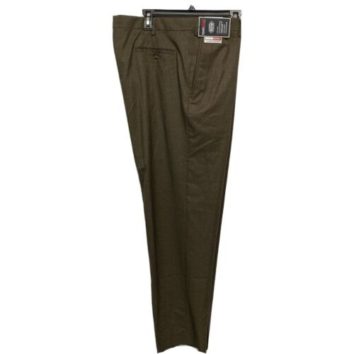 Roundtree & Yorke Travel Smart Classic Fit Flat Front Pants 50×30 Brown Clothing, Shoes & Accessories