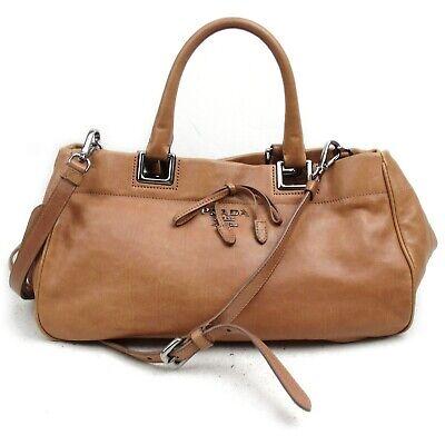 Prada Hand Bag 2way hand bag Pinks Leather 1129995