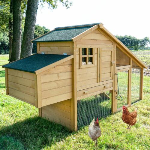 Komfort Hühnerhaus Hühnervoliere Hühnerstall Gefügelstall Enten Voliere NEU