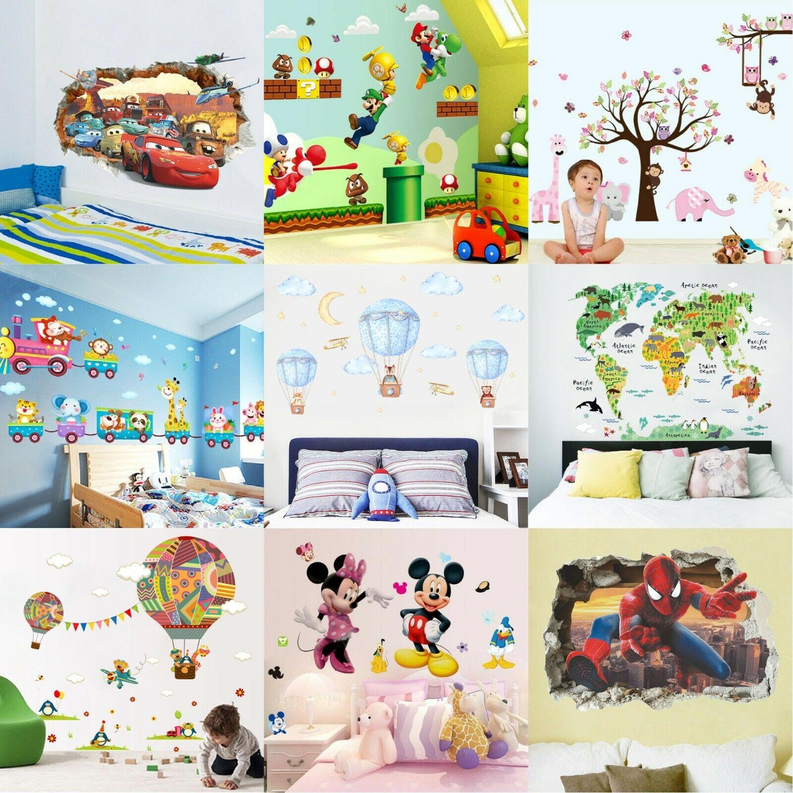 Wandtattoo Kinderzimmer Cars Mcqueen 3d Wandaufkleber