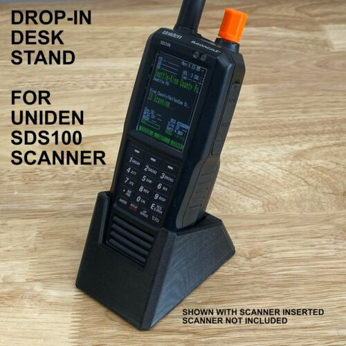 UNIDEN SDS100 DROP-IN ANGLED DESK STAND WITH GRIPPY BOTTOM (FOR SDS-100 SCANNER)