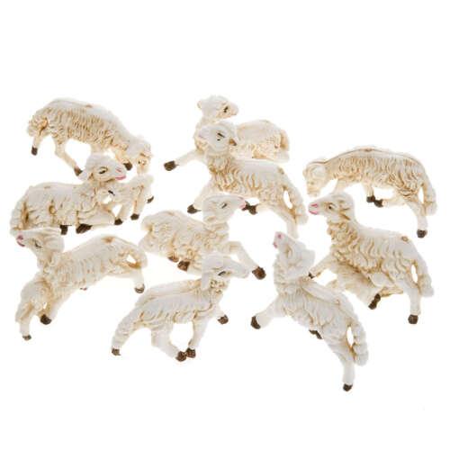 """Sheep Figurines for 3"""" Nativity Scene Animals Presepio Ovejas para Pesebre"""
