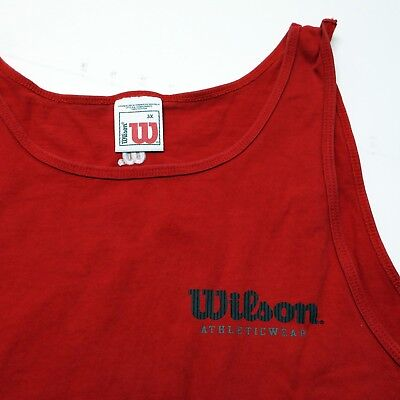 Wilson Athletic Wear Mens Big 3X Red Cotton Sleeveless Workout Gym Tank Top EUC