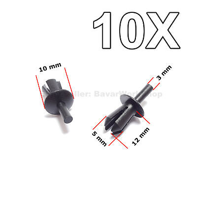 10X Rivet Clips for Trims, Wheel Arch Liner, Lining & Moudlings for BMW, M-Benz