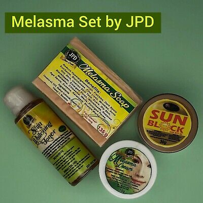 Melasma Set 4-in-1 by JPD  |Cream| Soap| Toner| Sunblock| 100% Effective  4in 1 Sunscreen