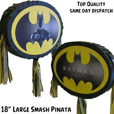 Batman Pinata for batman theme party matching bat man super hero comic dark UK - Batman Pinata