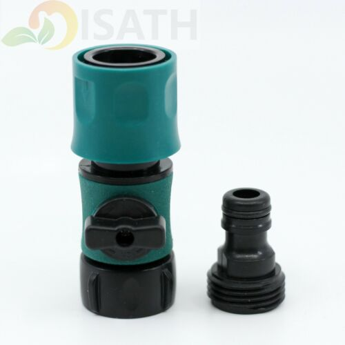 """3/4"""" Garden Water Hose Quick Connect Fittings Faucet Adapter with Switch"""
