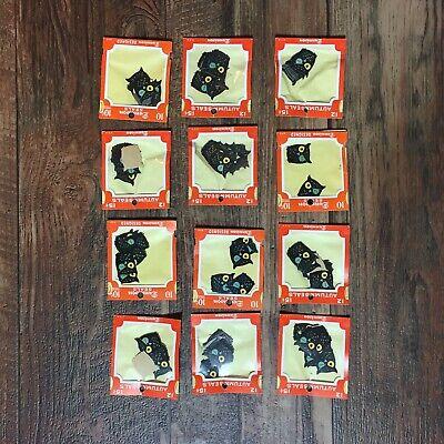 ison HALLOWEEN Gummed Seals Owl RARE HTF Sticker (Vintage Halloween Dennison)