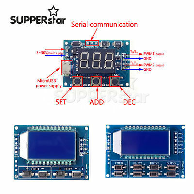 Signal Generator Pwm Pulse Frequency Duty Adjustable Module Lcd Displayass