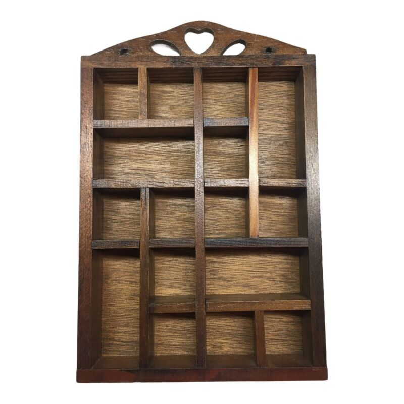 """Vintage WOOD THIMBLE COLLECTION DISPLAY WALL RACK Holds 16 Approx Size: 9"""" x 6"""""""