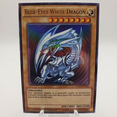 YuGiOh! Blue-Eyes White Dragon CT13-EN008 Limited Edition |Near Mint |Ultra Rare