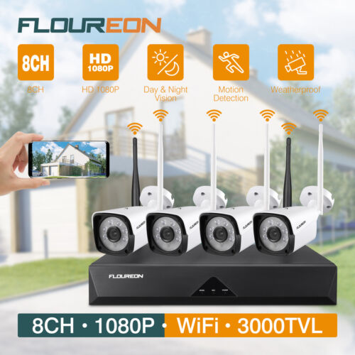 CCTV Home Security Camera System 8CH NVR 1080P Outdoor IP Ca