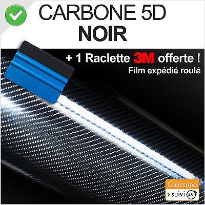 Vinyl Film adhesive carbon 5D black 152cm x 30cm ultra realistic +squeegee 3M