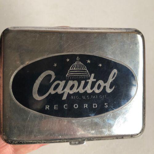 Rare Vintage Thai Sterling and Niello Cigarette Case for Capitol Records 1940