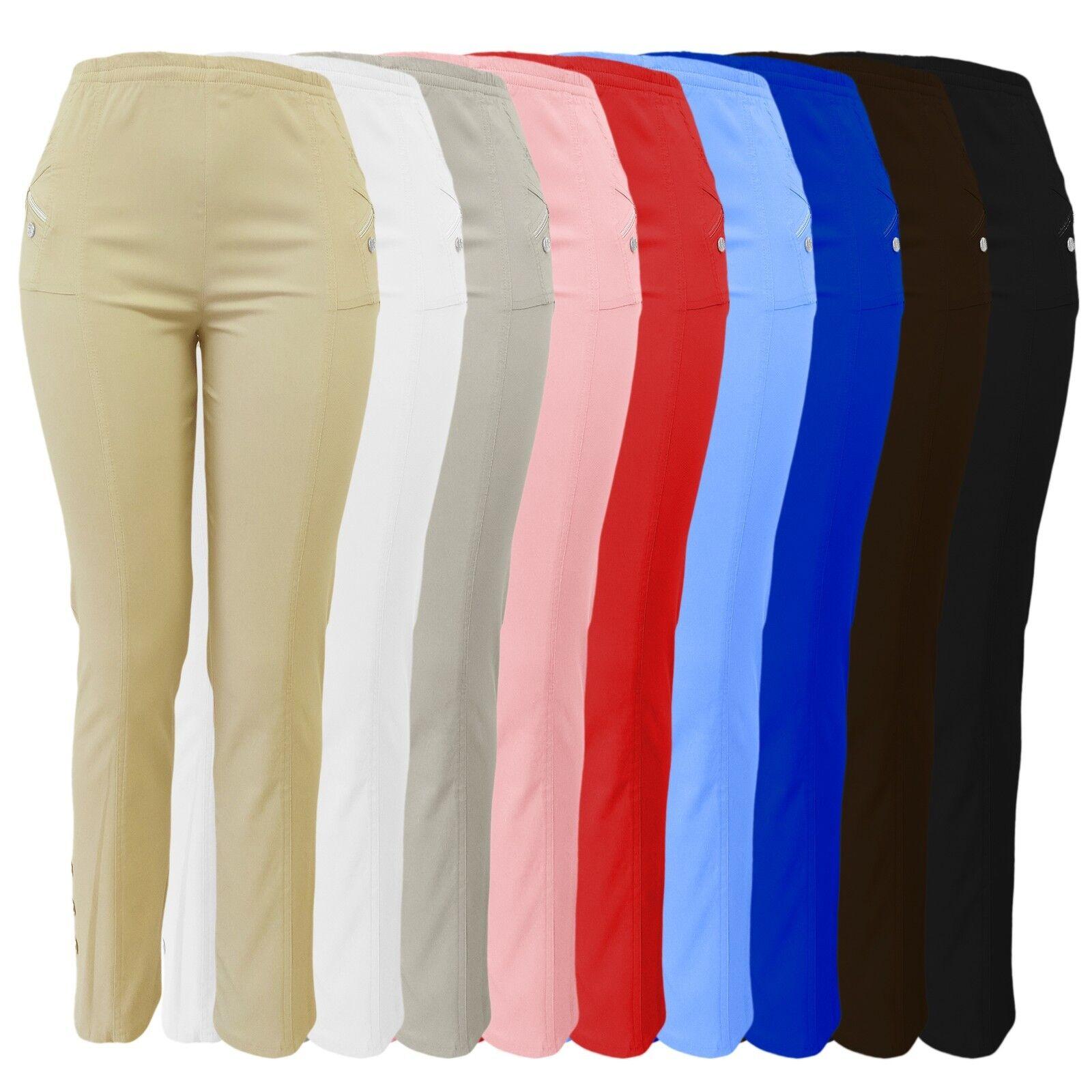 Sommerhosen Damen - Stretch Hose mit Gummizug - leicht luftig und bequem 38 - 54