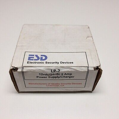 ESD Electronic Security Devices LP-2 Power Supply/Charger 12/24 vdc
