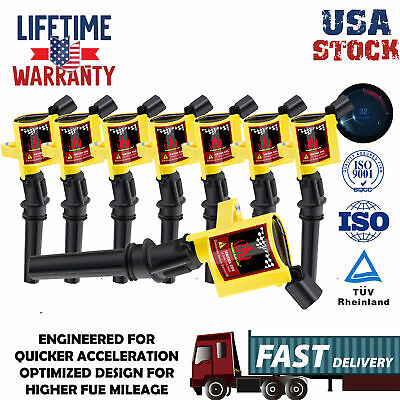Ignition Coils Pack Upgrade For Ford F150 2000 2001 2002-2004 4.6/5.4Lv8 (Ford F150 Ignition)