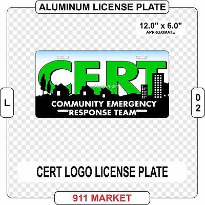 CERT License Plate Community Emergency Response Team Aluminum Metal Rescue  L 02