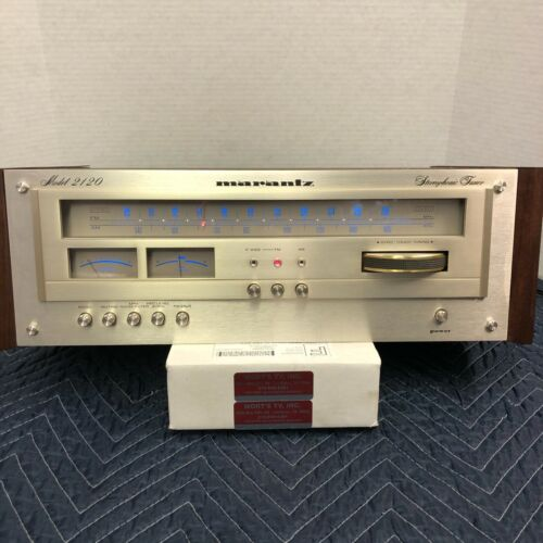 MARANTZ 2120 VINTAGE AM/FM STEREO TUNER - SERVICED - CLEANED - TESTED - MANUAL