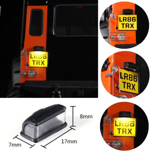 Rear License Light for Traxxas TRX-4 Land Rover Defender Rear Tail Lamp Cover