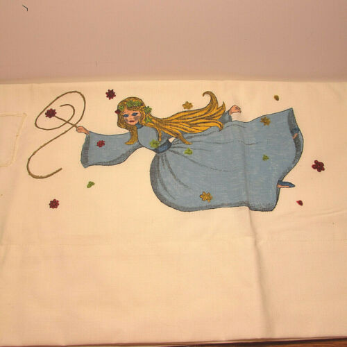 Tooth Fairy Pillow Paiinted Fairy With Pocket For tooth Standard Pillow Size