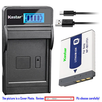 Kastar Battery LCD Charger for Sony NP-BD1 BC-CSD & Sony DSC-T90 Digital (Digital Lcd Camera Battery)