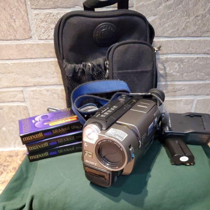 Sony Handycam CCD-TRV43 Hi8 Camcorder Video Transfer Nightshot Tested Bundle