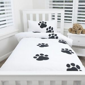 Dog Paw Print Bed Sheets