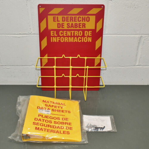 Brady Right to Know Compliance Center RK018S, SPANISH, Material Safety Binder