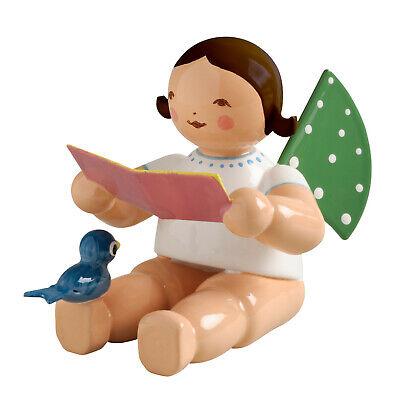 Wendt und Kühn Engel mit Notenblatt und Vogel sitzend, braunes Haar, 650/12a online kaufen