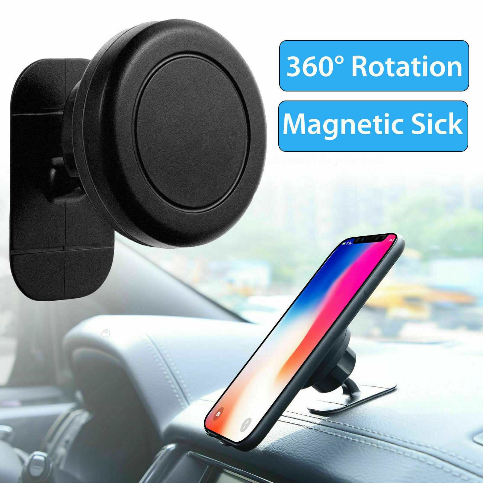 Universal 360° Magnetic Car Mount Cell Phone Holder Stand Dashboard For iPhone Cell Phone Accessories