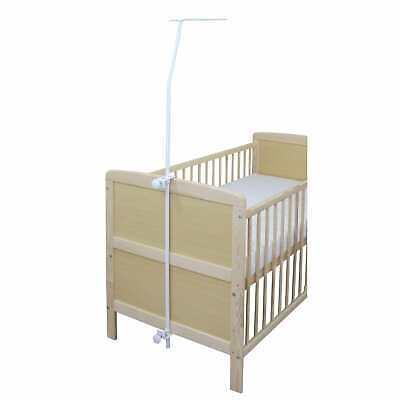 Himmelstange weiß universal für Babybett Kinderbett Gitterbett NEU