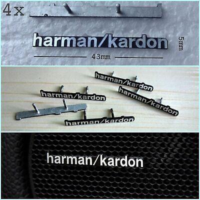4x Наклейки Для Harman / Kardon Автомобильный Динамик Эмблема Логотип Декора Значка С Штырьками 2