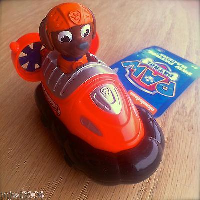 Nickelodeon PAW PATROL RACERS ZUMA Plastic Vehicle Rolls Pup Hovercraft dog