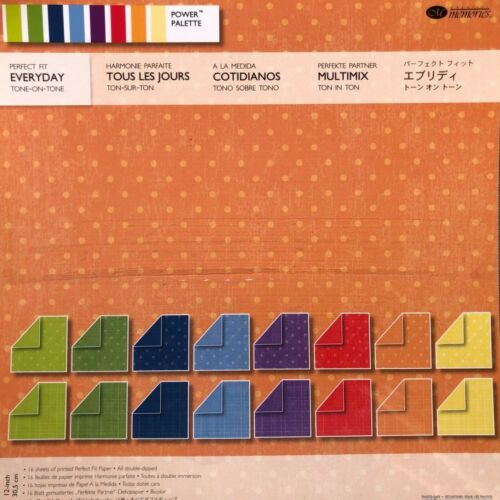 Creative Memories PERFECT FIT - EVERYDAY - TONE ON TONE PAPER PACK - 16 SHEETS