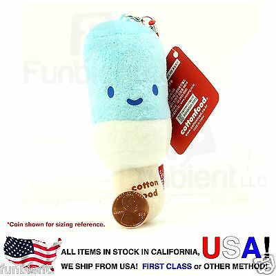 Blue Ice Cream - Cotton Foods smart phone anti dust plug plush charm wiper