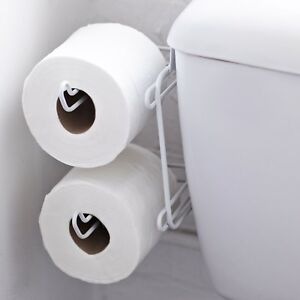 Chrome Over The Tank Cistern Hanging Double Dual Toilet Roll Paper Tissue Holder