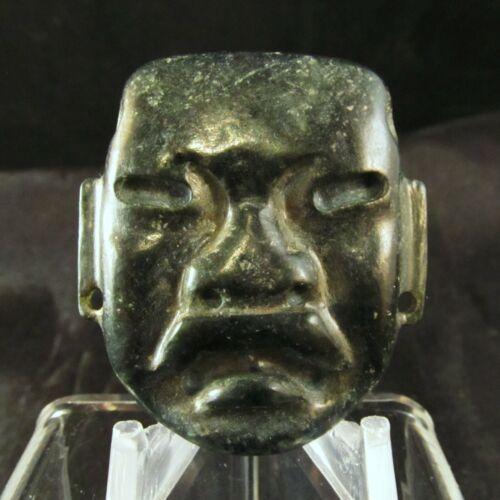 Ancient Pre-Columbian Small Olmec Jade Stone Mask ~ Museum Grade