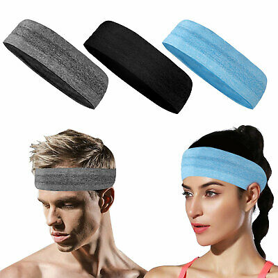 Unisex Women Men Stretch Headband Sport Sweat Sweatband Yoga