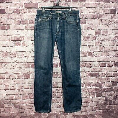 ACNE Jeans Men's Mic Rigid Denim Jeans Medium Wash Straight Leg Size 32x34