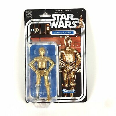 "Star Wars 6"" Black Series C-3PO SEE THREEPIO 40th Anniversary Series Kenner"