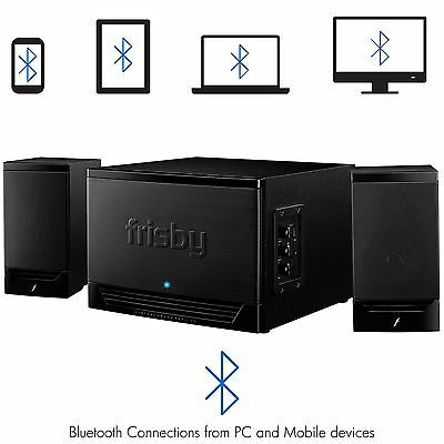 Frisby Wired 2.1 Channel Multimedia Bluetooth Subwoofer Speaker System w/ USB SD